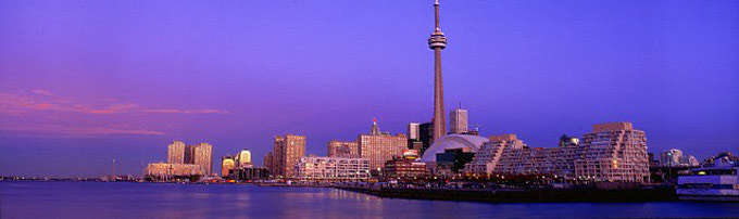 Breathtaking skyline of Toronto at dusk